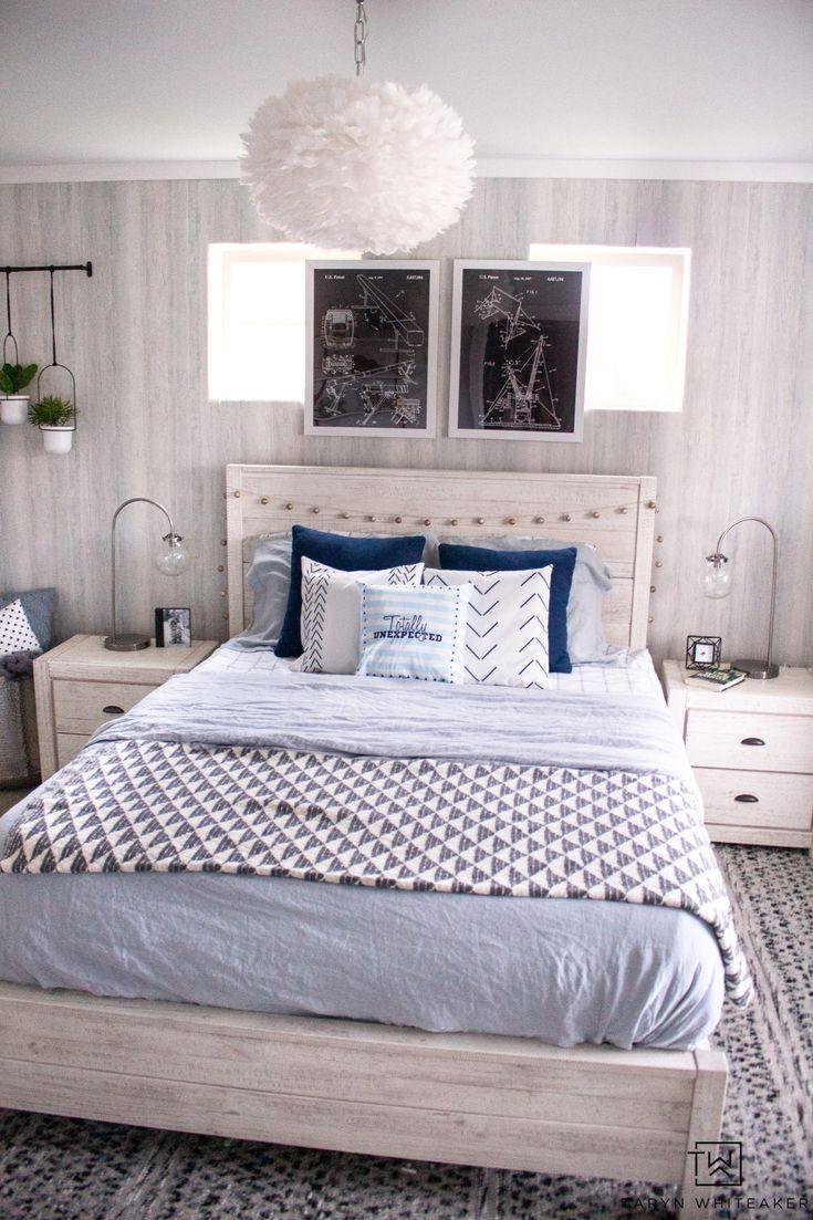 Modern Blue Girls Room | Blue girls rooms, Farmhouse ...