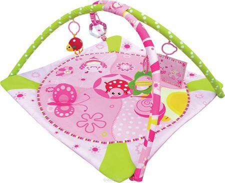 """Balio Развивающий коврик цвет розовый  — 2335р. ---------------- Развивающий коврик """"Balio"""" предназначен для раннего развития основных навыков ребенка в первые месяцы его жизни. Две дуги коврика имеют подвески: мягкая музыкальная """"божья коровка"""", погремушка, безопасное зеркальце, мягкая рамка для фотографии. Коврик легко складывается. Упакован в прозрачную сумку с ручкой для переноски. Допускается машинная стирка."""