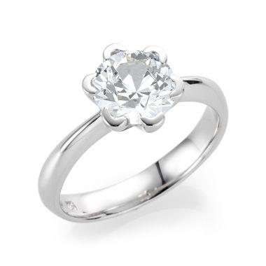 Weißer Topas Weißgoldring  - Ring mit weißem TopasRing mit weißem Topas (Weißgold 750)  Allison 21Collection