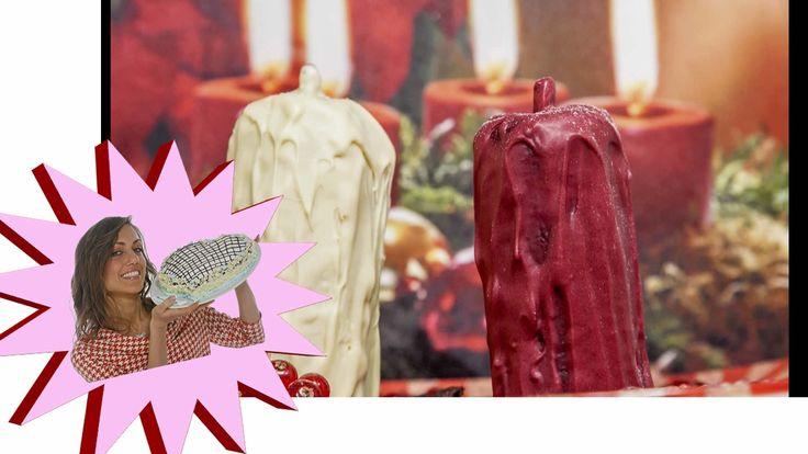 Dolce di Natale - Candele Dolci Ricoperte di Cioccolato