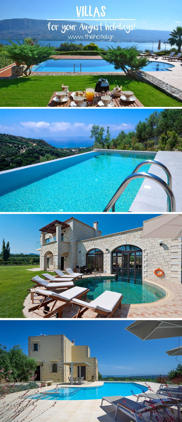 Holidays Villas Amazing Villas In Crete For Your August Holiday Travel