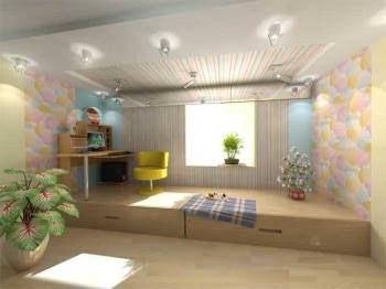 дизайн комнаты с подиумом