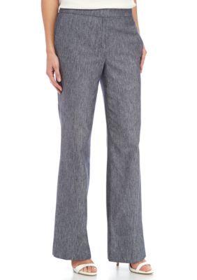 Nine West Navy Linen Pants