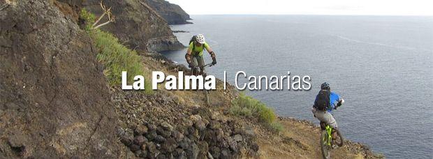 Practicando Mountain Bike en La Palma (Canarias, España)