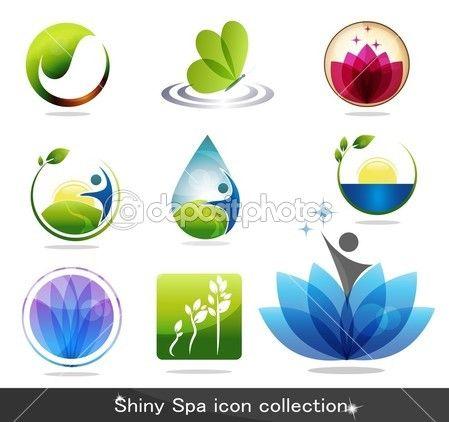 iconos de la naturaleza — Ilustración de stock #10070217