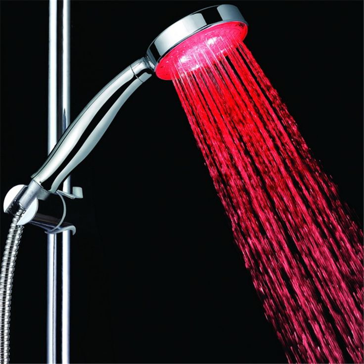 Single Red Color Water glow portable shower head bathroom without color box #Affiliate