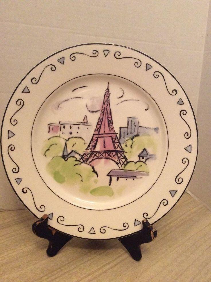 Studio Nova VUES DE PARIS Eiffel Tower Dinner Plate #StudioNova