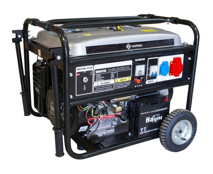 Aggregaatti HANDAI 5000/5500W, valo- / voimavirta 230/400V, sähköstartti | Rellunkulma.fi Verkkokauppa