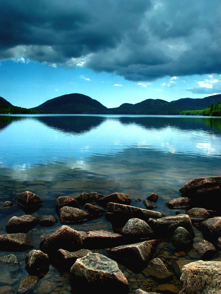 eagle lake, acadia national park, maine.