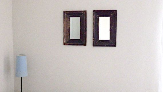 Handcrafted reclaiment wood vintage mirror
