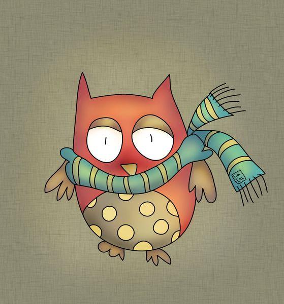 'Wintery Owl' by Carina Povarchik