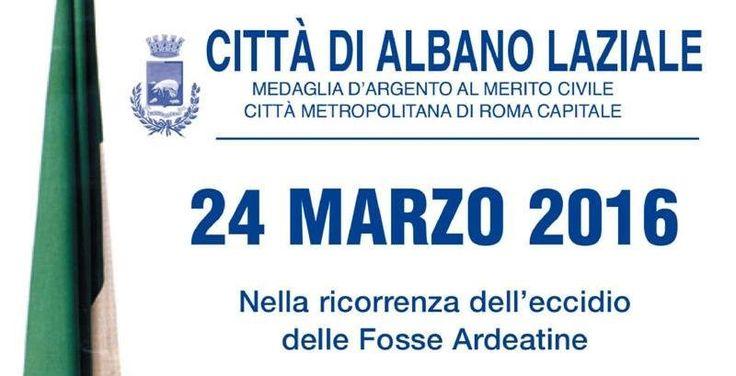 Albano ricorda l'eccidio delle Fosse Ardeatine con la deposizione di una corona d'alloro a Largo Moscati in onore del partigiano omonimo