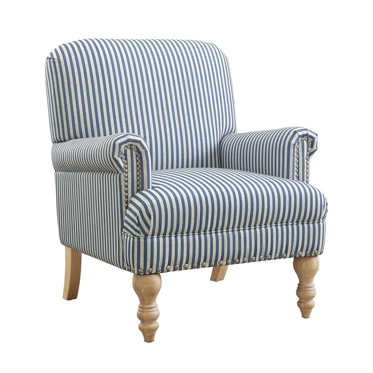 Birch Lane Heritage Bashir Armchair Blue Accent Chairs