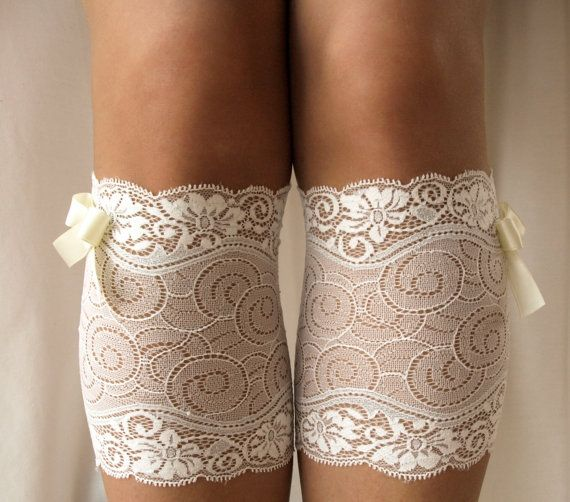 Lace Boot Cuff Socks White silver lace  with by VANAGScreative, $15.00