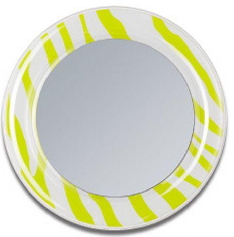 Lime zebra magnetic locker mirror