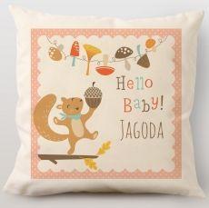Poduszka personalizowana WIEWIÓRKA idealny na urodziny