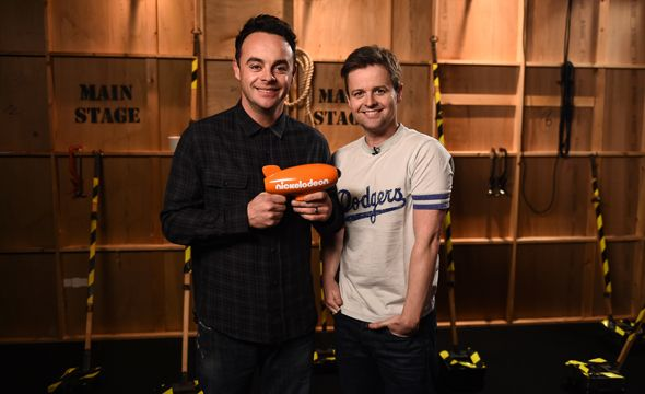 The first ever Nickelodeon 'UK TV Legends' award winners: Ant & Dec.