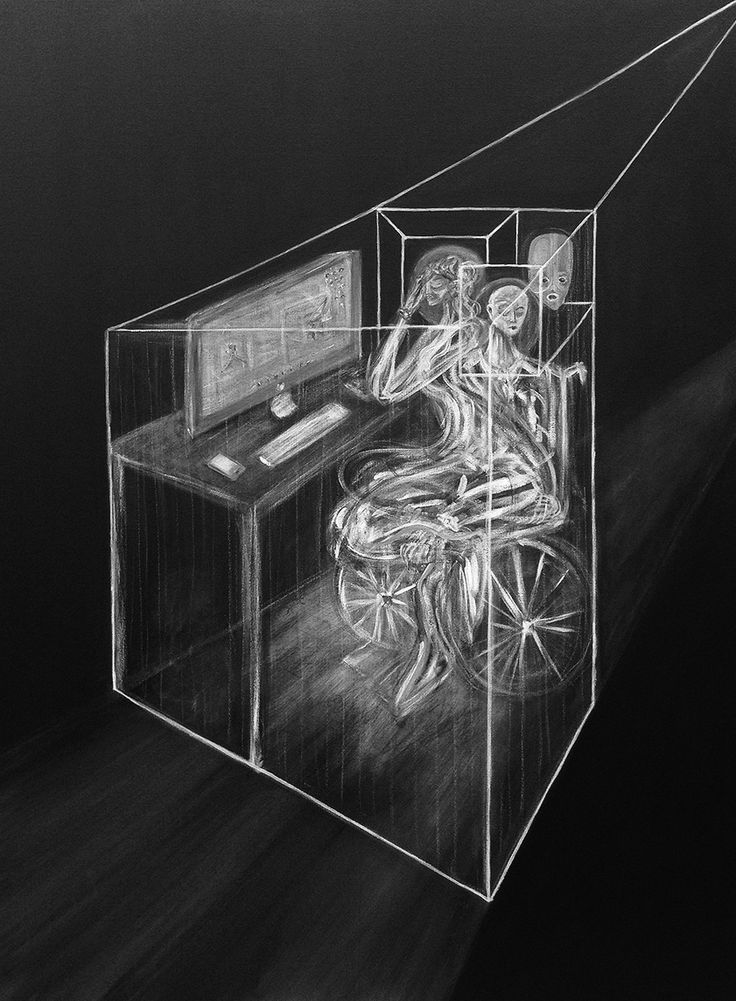 """""""Paralysing Confinement, 2016"""" Jordan Devlin. Jordan Devlin is a Scottish painter working mainly with black and white."""