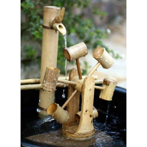 Bamboo Water Wheel, Fountain Accessory (8 Inch)