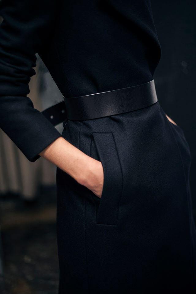 All black : jupe, haut, ceinture