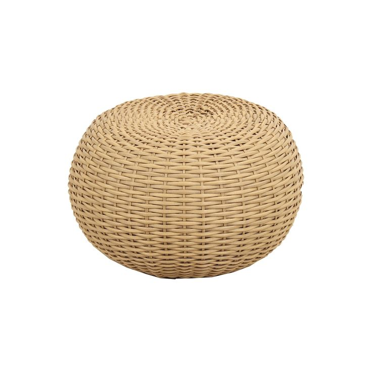 • Made of metal and wicker<br>• Weather resistant<br><br>Put your feet up on this Wicker Pouf in Brown from Threshold. This pretty outdoor pouf can hold up to the weather and makes sure your outdoor seat is always comfy.