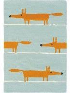 Wollteppich Mr Fox Türkis