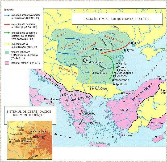Dacia in timpul lui Burebista