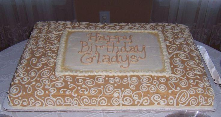 Full Sheet Cake For 70Th Birthday  on Cake Central