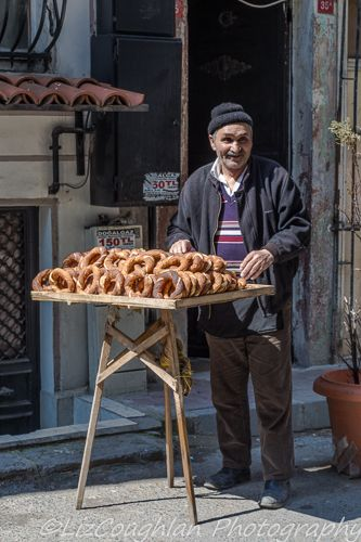 Simit seller, in Istanbul