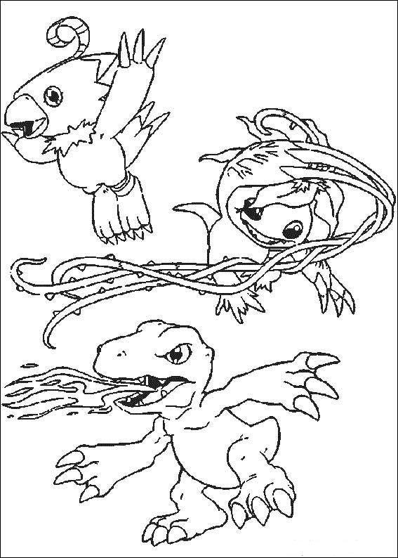Digimon Tegninger til Farvelægning. Printbare Farvelægning for børn. Tegninger…