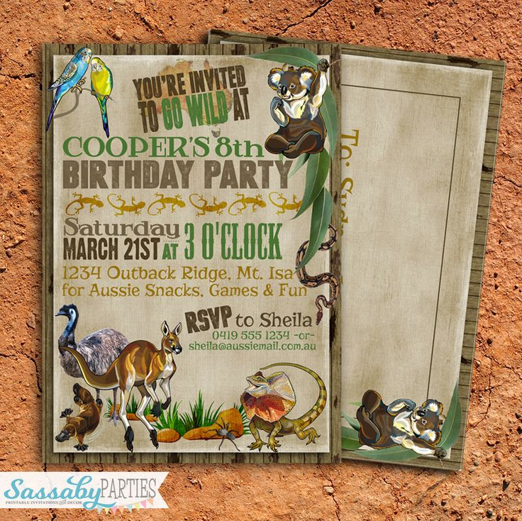 81 best Australia Party Ideas images – Birthday Invitations Sydney