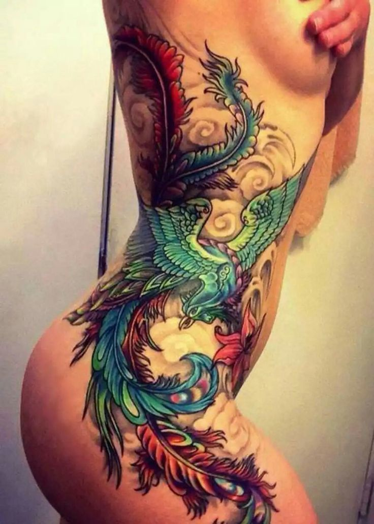 Phoenix side tattoo                                                       …