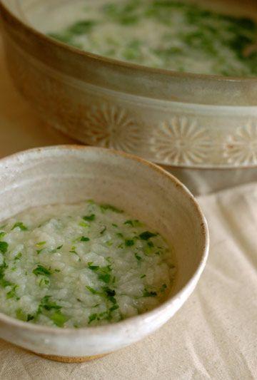 // rice porridge with seven herbs 七草粥