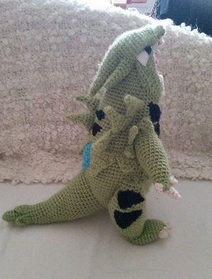 crochet pokemon tyranitar!! pattern here: https://www.etsy.com/listing/209509387/tyranitar-crochet-pattern?