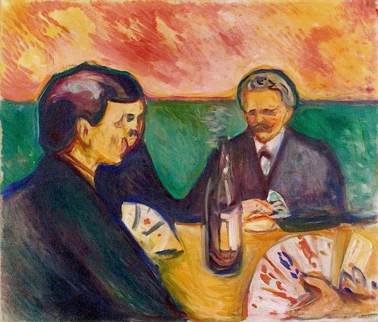 Card Players in Elgersburg.1905 by Edvard Munch