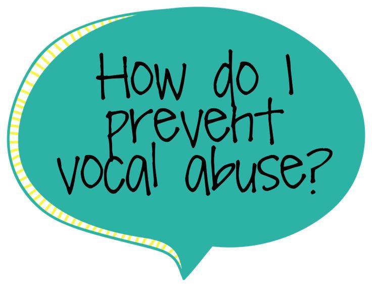 Busy Bee Speech: FAQ Friday: Vocal Abuse