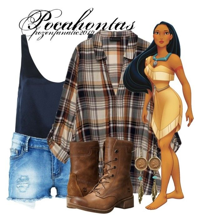 Pocahontas by frozenfanatic2019 on Polyvore featuring Bobeau, 3.1 Phillip Lim, Boohoo, Timberland and American Coin Treasures