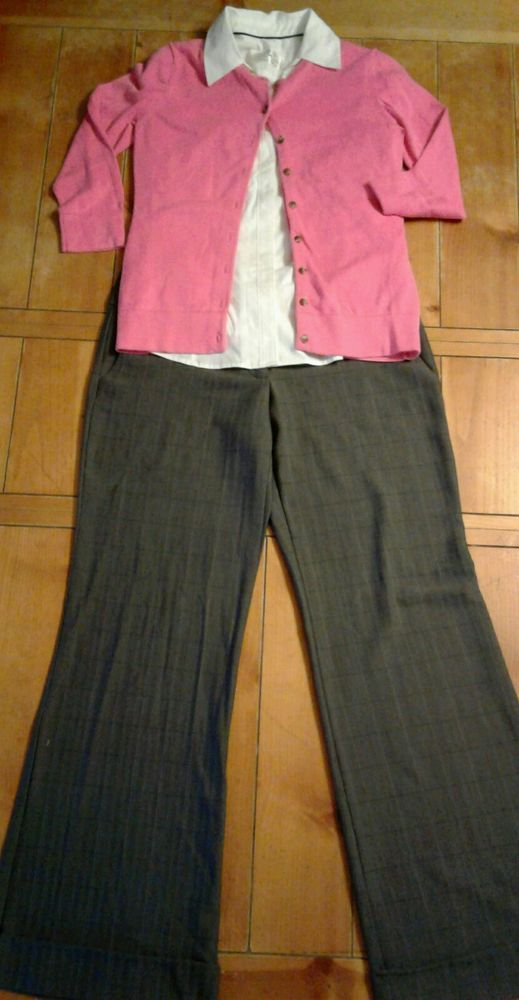 3 piece women's office career set size M: Lee, Isaac Mizrahi & Charlotte Russe $0.99 + $10.00 s/h