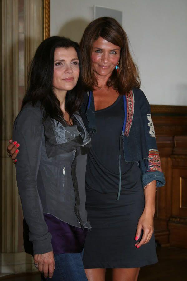 Ali Hewson and Helena Christensen, Copenhagen  #u2newsactualite #u2newsactualitepinterest #u2 #bono #paulhewson #music #rock #alisonhewson #alihewson     http://www.u2interference.com/forums/f195/pic-request-u2-and-supermodels-208535.html