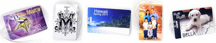 Customize your very own luggage tag... add any picture you want!