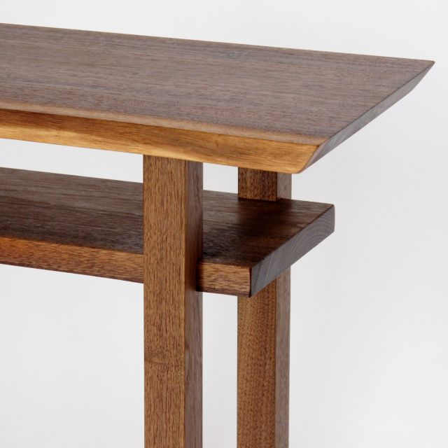 Small Mid Century Modern End Tables: Custom Furniture- Narrow End Table, Small Entry Table, Mid