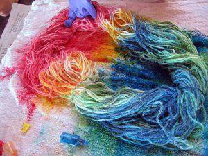 teñir lanas con jugos