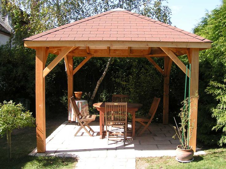 25 best ideas about gazebo en bois on pinterest gazebos for Abri soleil mural toit rigide