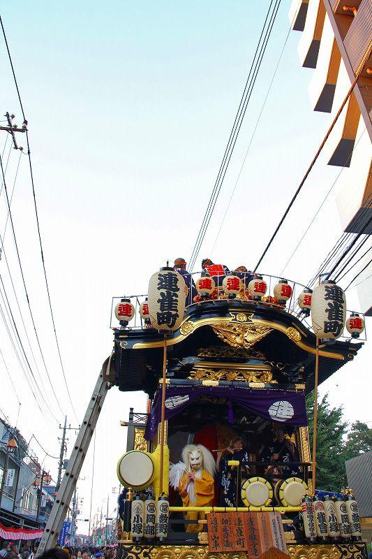川越祭りの屋台