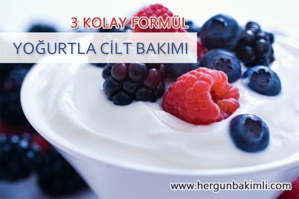 Yoğurtla Cilt Bakımı için 3 Formül | Her Gün Bakımlı : Doğal, Organik, Helal Sertifikalı Kozmetikler