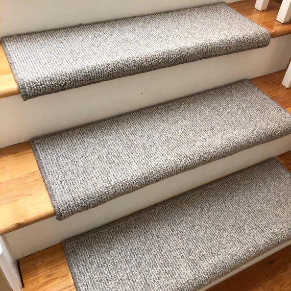 Big Sky 100 Wool True Bullnose Carpet Stair Tread Jmish Handmade Step Cover Comfort Safety Dog Pet Runner Sold Per Step Each