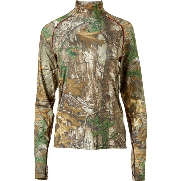 Field & Stream Women's Base Defense Midweight Mock Neck Base Layer Shirt, Size: Large, Brown
