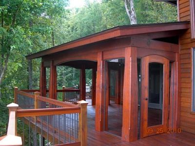 1000 images about timber frame porch ideas on pinterest for Timber frame porch addition