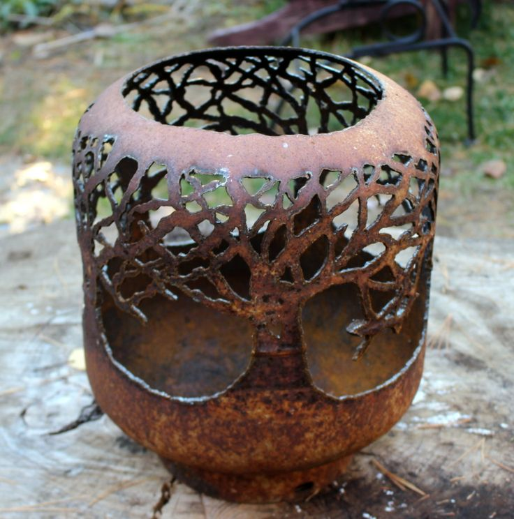 Trees Propane Tank Lantern Plasma Cutting Pinterest