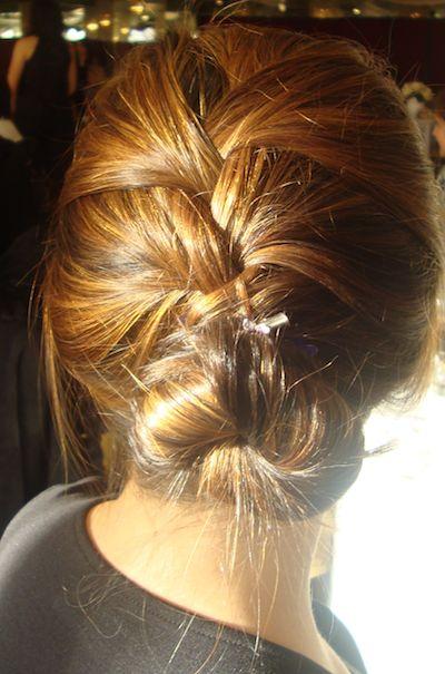 French braid updo tutorial
